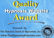 National Guild of Hypnotists Quality Hypnosis Website Award